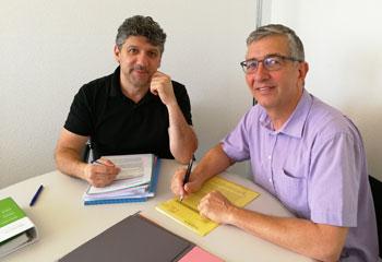 Francisco Pavone (li) und Ivo L�tscher (re)